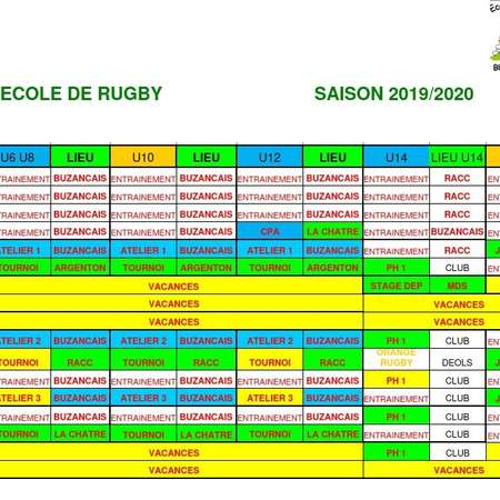 Calendrier première phase EDR